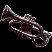 Vintage Sterling Silver Trumpet Charm
