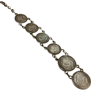Antique  World War II English & Japanese Silver Coin Watch Fob