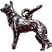 Vintage Sterling Silver German Sheppard Charm
