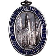 Vintage 1935 Tiffany Sterling Silver & Enamel New England Mutual Life Insurance Company Service Medal