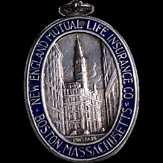Vintage 1935 Tiffany Sterling Silver & Enamel New England Mutual Life Insurance Company Service Medal