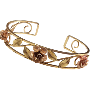 Art Deco Krementz Gold Filled Cuff Bracelet