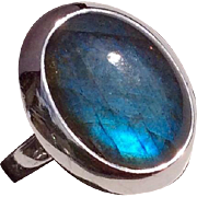 Vintage Sterling Silver Labradorite Ring