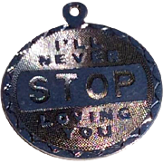 Vintage Sterling Silver I'll Never Stop Loving You Charm