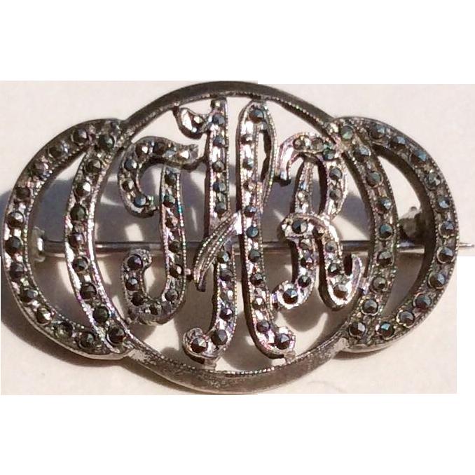 Vintage Sterling Silver Marcasite 55