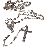 Vintage Sterling Silver Child's Catholic Rosary