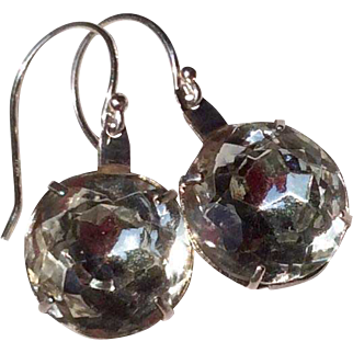 Vintage Upcycled Sterling Silver Paste Earrings