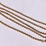 "Vintage 24 "" Gold Filled Rolo Link Chain Necklace"