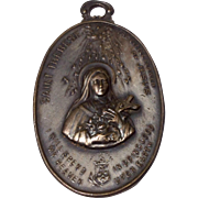 French Saint Therese Of Lisieux Embossed Plaque