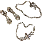 Vintage Rhinestone Three Piece Set