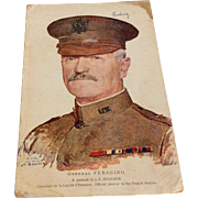 World War I Soldiers Post Card General Pershing
