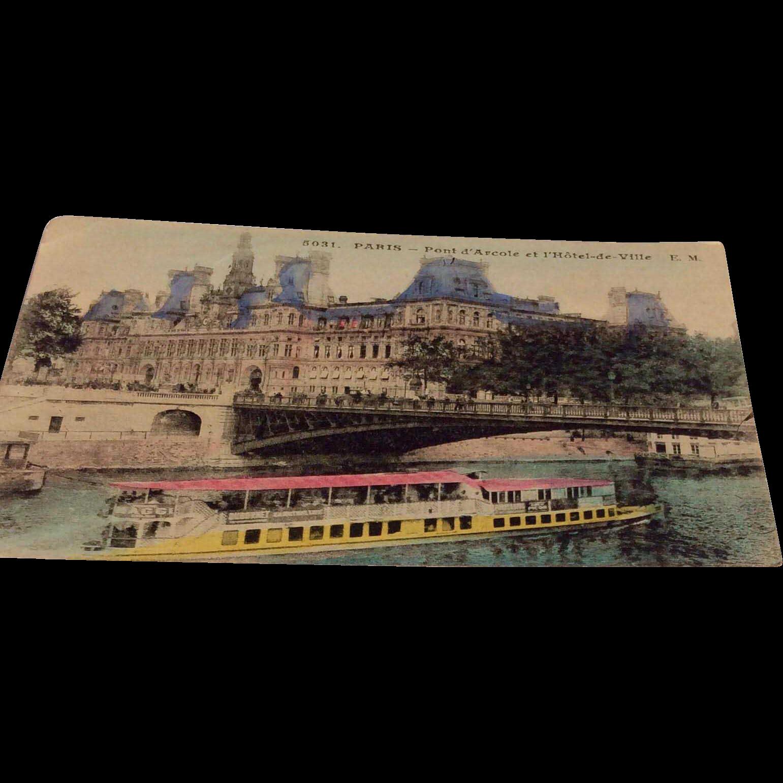 World War I Soldiers Postcard Paris France
