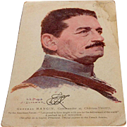 World War I Soldiers Mail Postcard General Mangin