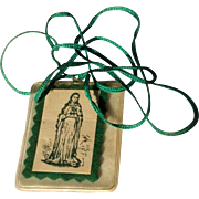 Vintage1940's Catholic Scapular Immaculate Heart Of Mary Relic