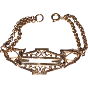 Antique Victorian Gold Filled Ornate Watch Chain Upcycled  Bracelet