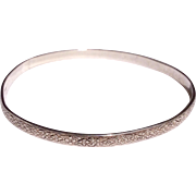 Sterling Silver Embossed Bangle Bracelet