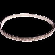 Sterling Silver Embossed Bangle Bracelet