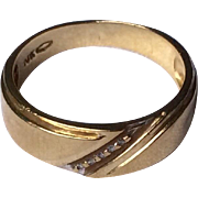 Vintage 10 K Yellow Gold Men's Wedding Band
