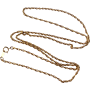 "Vintage 14 K Gold Filled 24"" Chain"