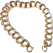 Vintage Gold Filled Flexible Link Charm Bracelet