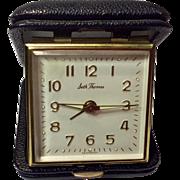 Vintage Seth Thomas Wind Up Travel Alarm Clock