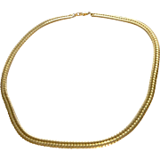Gold Tone Omega Necklace
