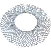Vintage Italian Hand Made Faux  Seed Pearl Collar