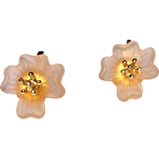 Sweet Vintage Flower Clip Earrings