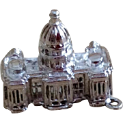 Vintage Sterling Silver United States Capitol Charm - Red Tag Sale Item