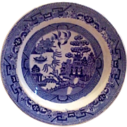 "Early English 9 1/2"" Blue Willow Transferware  Soup Bowl"