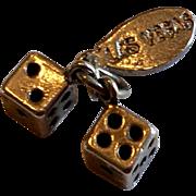 Vintage Las Vegas Sterling Silver Dice Charm