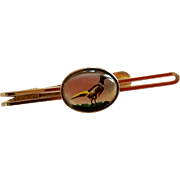 Vintage Gold Filled Essex Crystal  Krementz Pheasant Tie Bar