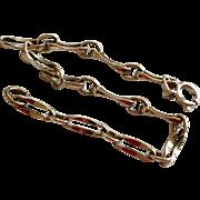 Vintage Sterling Silver Unusual Link Charm Bracelet