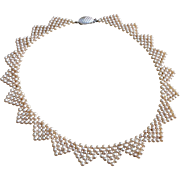 Vintage Faux Pearl Hand Made Necklace
