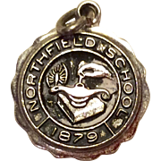 Vintage Sterling Silver Northfield School Charm