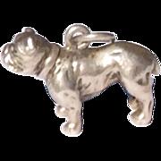 Vintage Sterling Silver Large Bulldog Charm