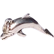 Vintage Sterling Silver Dolphin Charm