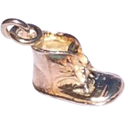 Vintage Sterling Silver Baby Shoe Charm