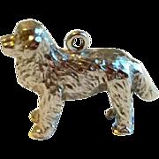 Vintage Sterling Silver 3D St. Bernard Dog