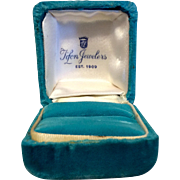 Vintage Velvet Ring Display Presentation Box