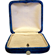 Vintage Blue Velvet Jewelry Display Presentation Box