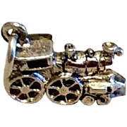 Vintage Sterling Silver Locomotive Charm