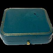 Vintage Classic  Tiffany & Co. Blue Leather Jewelry Display Presentation Box