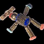 Vintage Japanese Slinky Doll Brooch