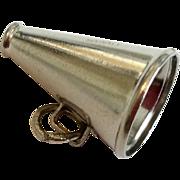 Vintage Sterling Silver Megaphone Charm