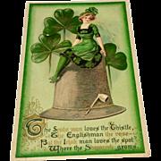 Vintage Embossed St Patrick's Day Postcard
