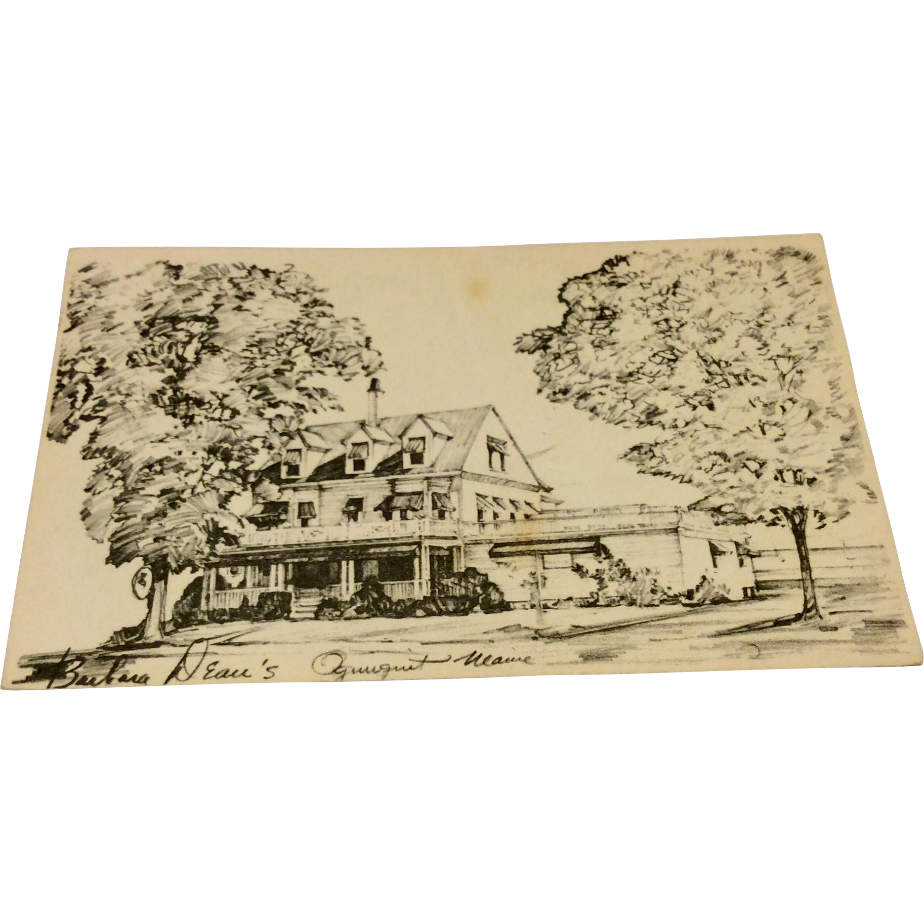 Vintage Advertising Postcard Barbara Deau's Ogunquit, Maine Postcard