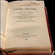 1841 Poesies Of Andre Chenier