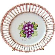 "Vintage Made In Occupied Japan 8 1/4"" Grapes Decorative Plate"