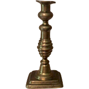19th Century Push Up Brass Candlestick